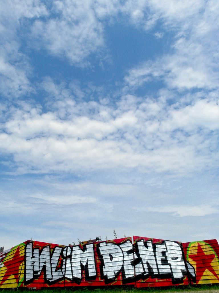 Halim Dener Grafitti auf der Fusion- Foto: seven_resist/Flickr