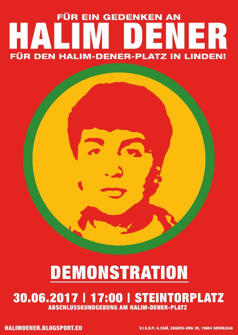 Halim Dener-Demo zum 23. Todestag 2017