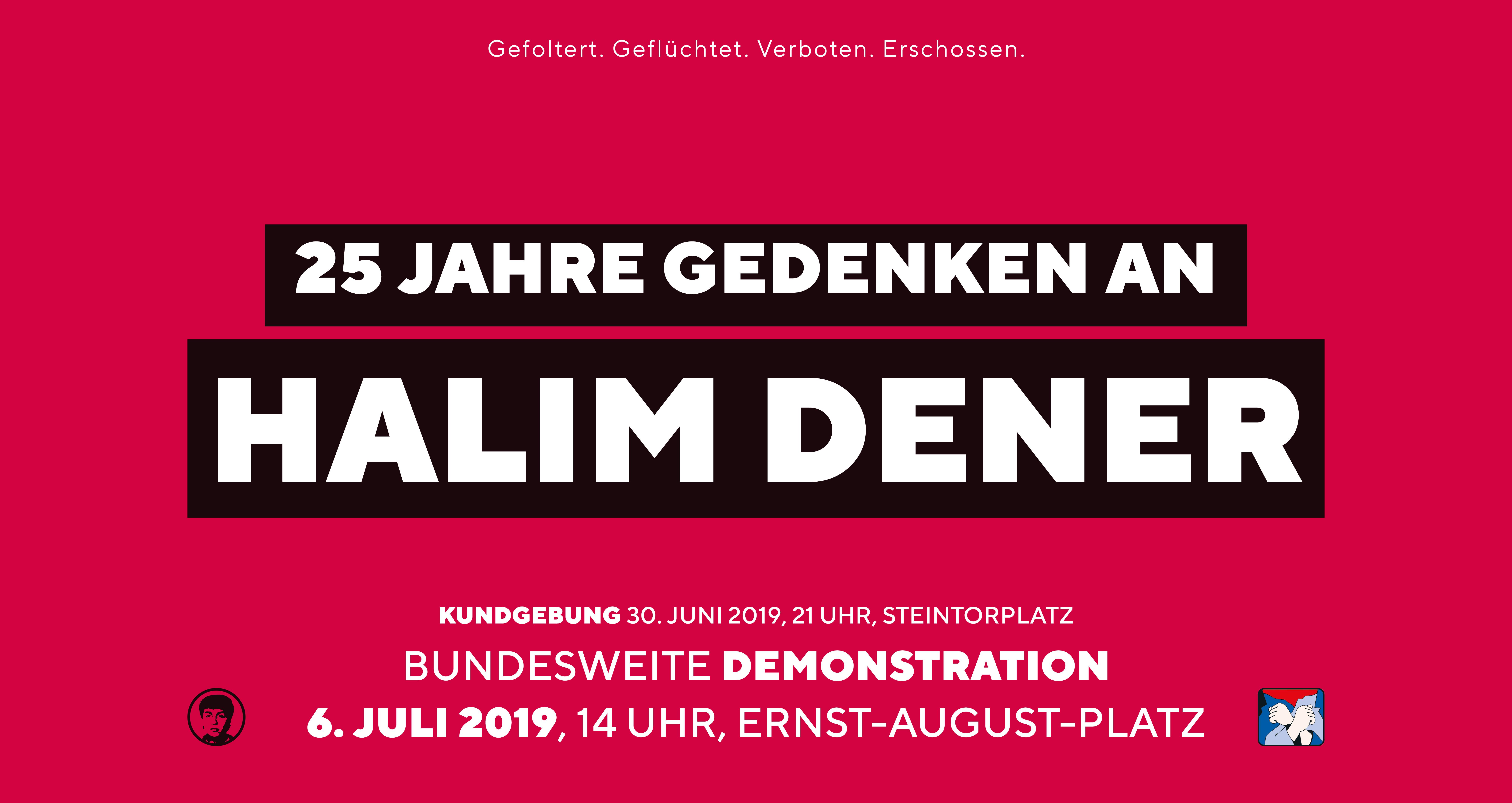 Kampagne Halim Dener 25 Jahre Gedenken Kundgebung Demonstration Hannover 2019